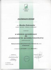 Certyfikat sprzedaż indywidualna