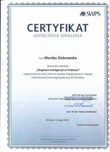 certyfikat diagnoza inteligencji wpraktyce str 1