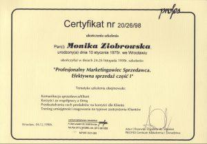 certyfikat prof marketingowiec sprzedawca