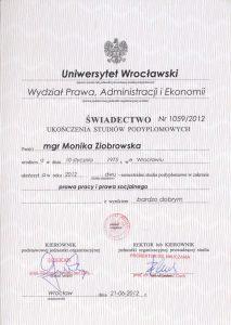 dyplom prawo pracy