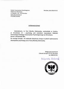 zaświadczenie oczłonkowstwie ietyce zPTP
